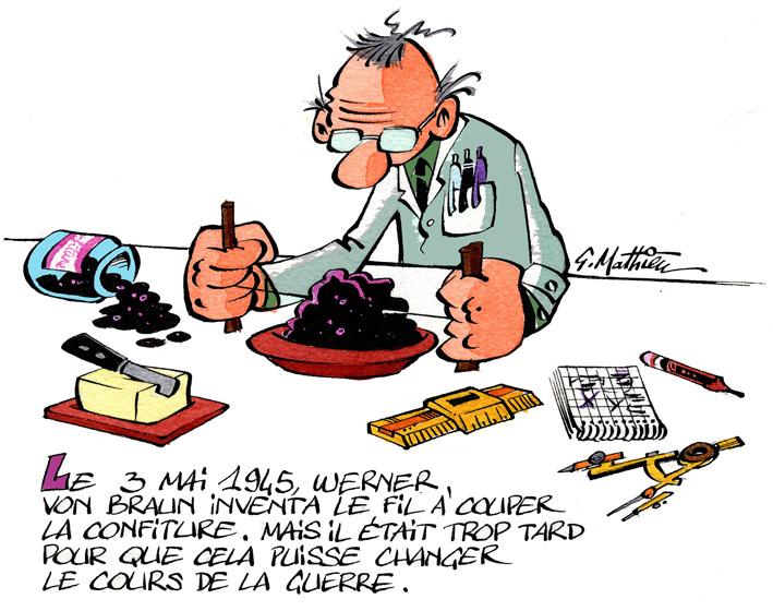 Werner von Braun, Gérard Mathieu
