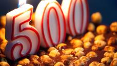 Bougie d'anniversaire 500