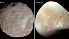 Les lunes de Mars, Phobos et Deimos, pourraient être des morceaux de la planète rouge.