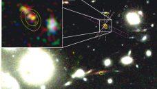 Observation en détails d'une galaxie extrêmement lointaine