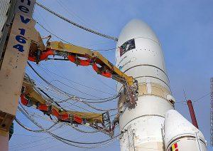Ariane 5 sur son pas de tir