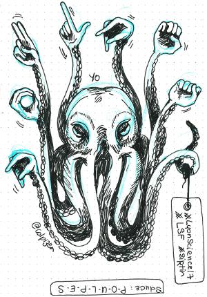 Des tentacules épellent le mot « poulpes » en langue des signes