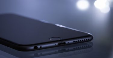 iPhone en gros plan